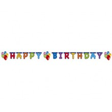 PROCOS Girlanda Happy Birthday Balloons 449724