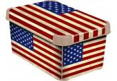 CURVER box úložný dekorativní S AMERICAN FLAG, 04710-A33