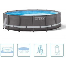 INTEX ULTRA FRAME POOL 4,88 x 1,22 m s filtrační pumpou ( 12V ) 26322GN