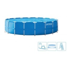 INTEX Bazén Metal Frame Pools 4,57m x 1,22m, s filtrací 28242NP