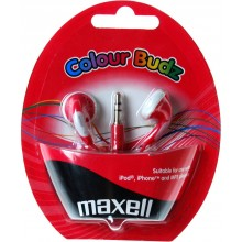 MAXELL 303365 COLOUR BUDZ RED Sluchátka 35040219