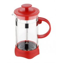 RENBERG Konvička na čaj a kávu French Press 600 ml červená RB-3108