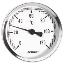 "NOVASERVIS Teploměr 100mm 1/2"" axiální 0 - 120°C T100120A"