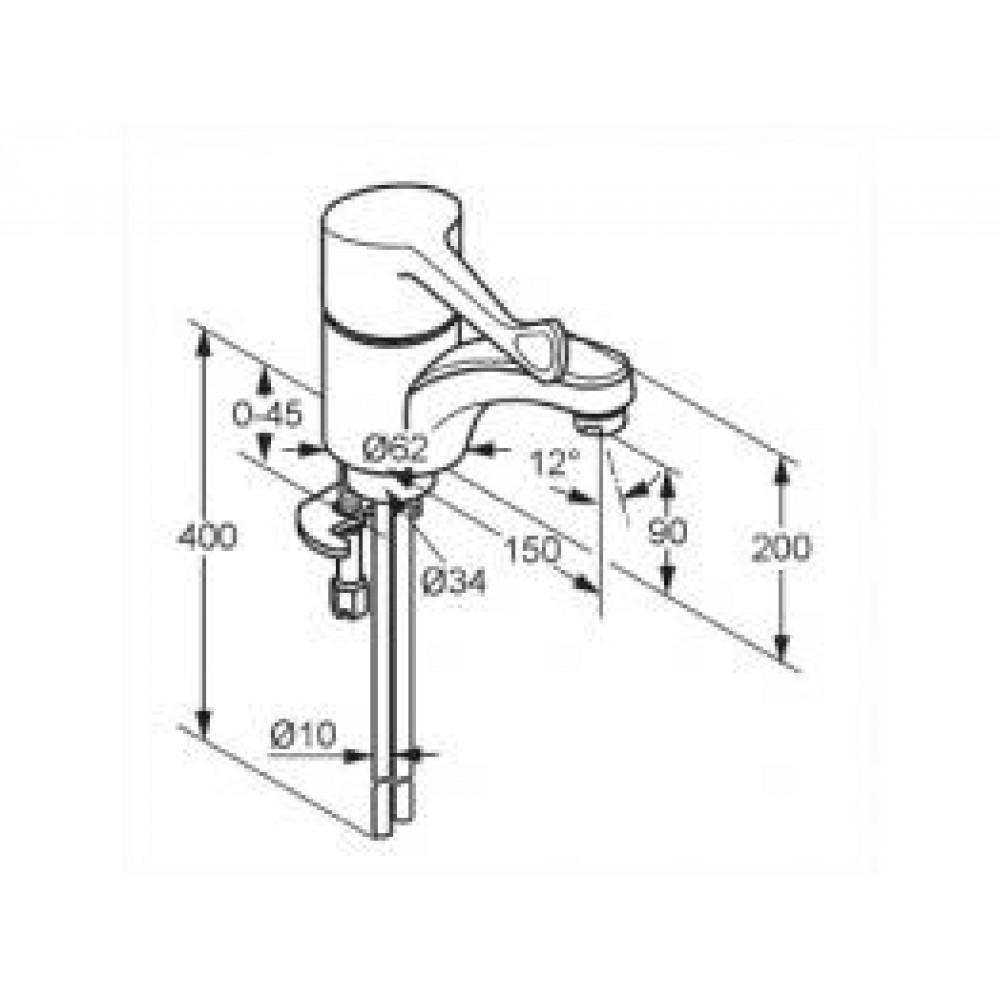 kludi medi care umyvadlov baterie chrom s p kou care 341120534. Black Bedroom Furniture Sets. Home Design Ideas