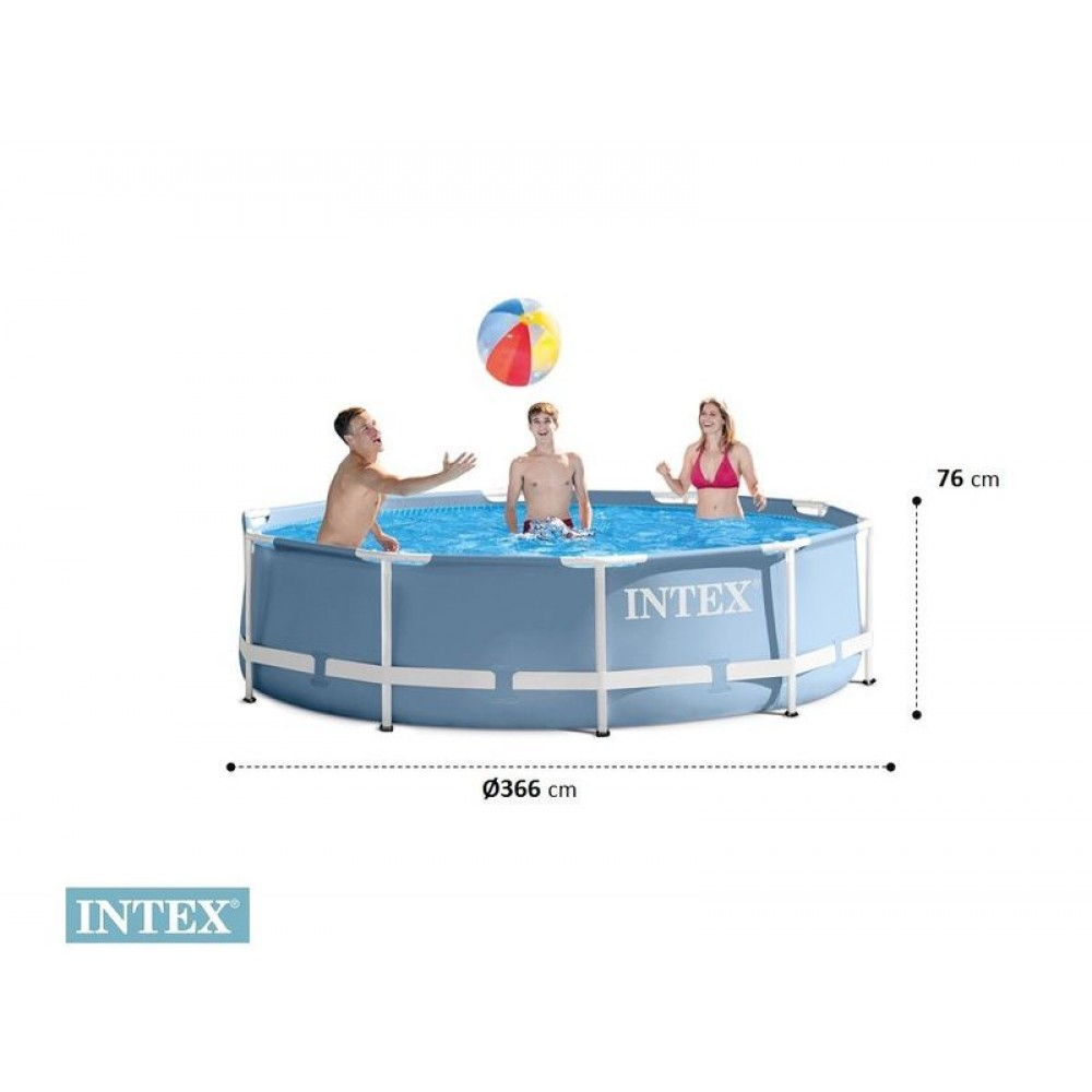 intex prism frame pool baz n 366 x 76 cm 28710np. Black Bedroom Furniture Sets. Home Design Ideas