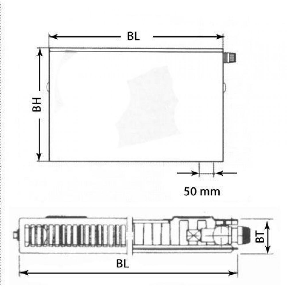 kermi therm x2 plan v deskov radi tor 11 900 2000. Black Bedroom Furniture Sets. Home Design Ideas