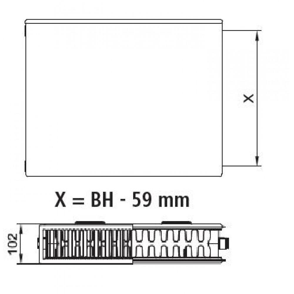 kermi therm x2 plan kompakt deskov radi tor 22 600 800 pk0220608. Black Bedroom Furniture Sets. Home Design Ideas