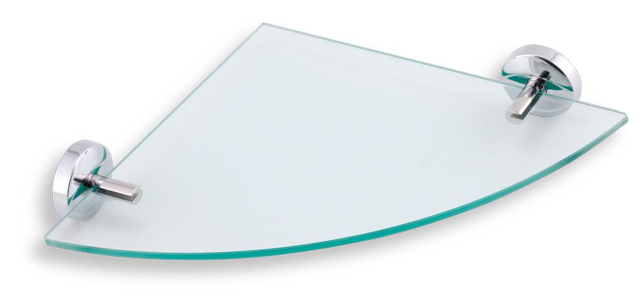 NOVASERVIS METALIA 11 rohová polička sklo/chrom 0135,0