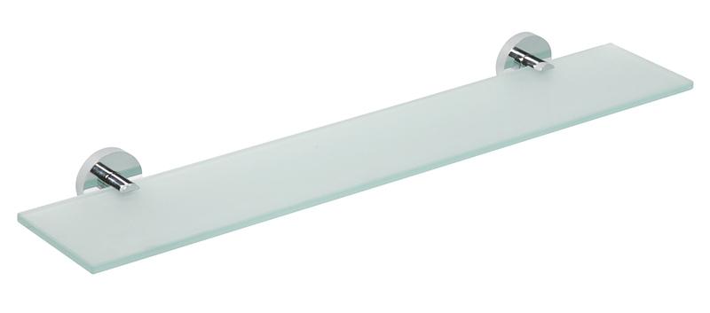 SAPHO OMEGA ECONOMY 104102042 skleněná polička, 600x130mm, chrom