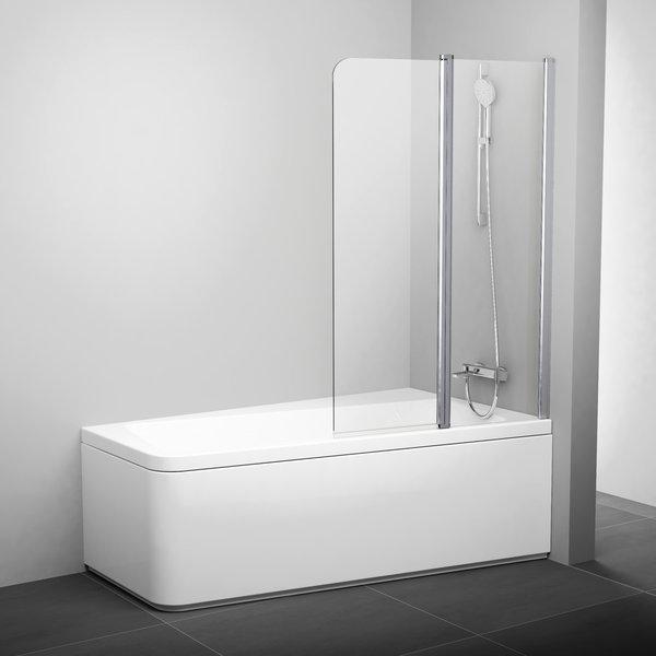 RAVAK 10CVS2-100 R vanová zástěna dvoudílná, white+Transparent 7QRA0103Z1