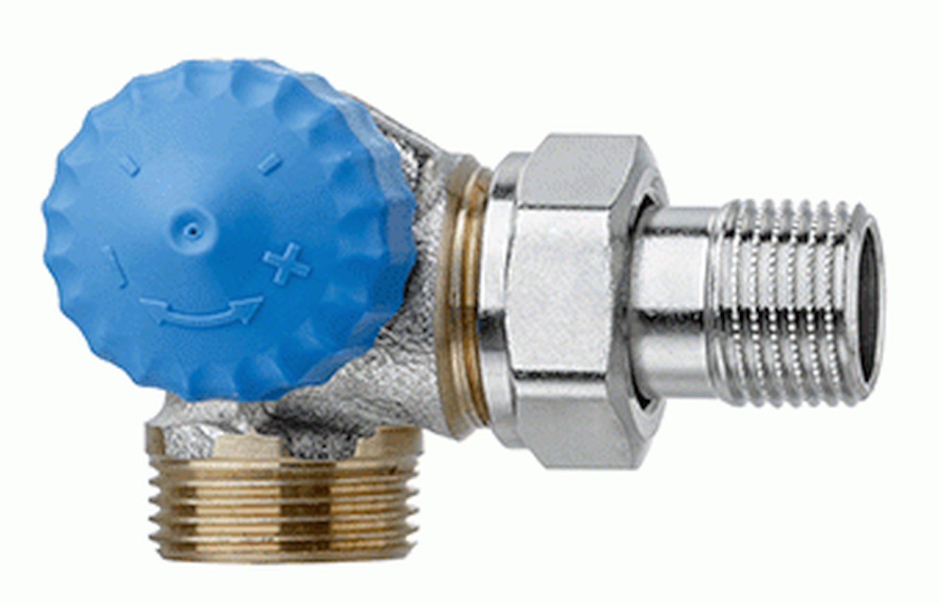 "HEIMEIER radiátorový ventil samotížný DN 15-3/4"" úhlový, levý, vnější závit 2343-02.000"