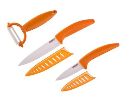 BANQUET 3dílná sada keramických nožů Gourmet Ceramia Arancis 25CKLC02