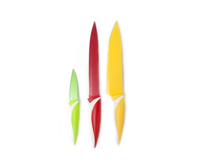 BANQUET 3 dílná sada nožů s nepřilnavým povrchem, Symbio Colore 25LI008103C