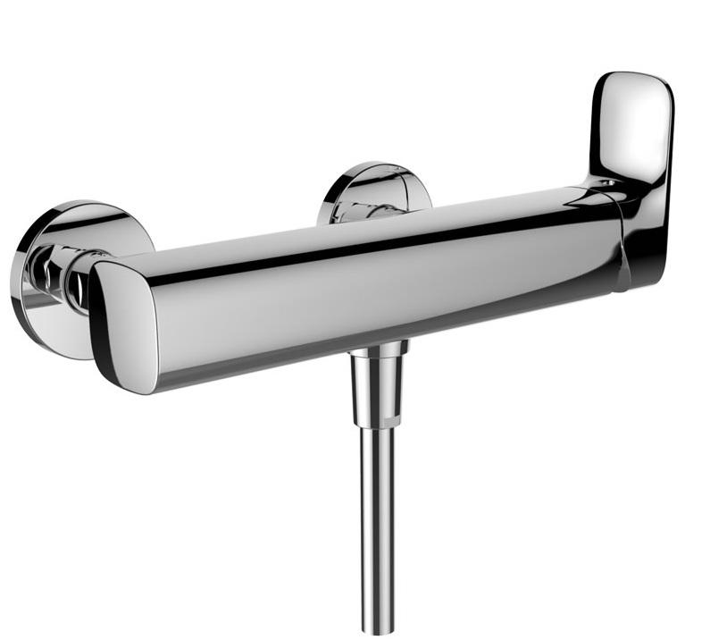 LAUFEN CITYPLUS Sprchová nástěnná páková baterie, průtok 10,8 l/min - měřeno u ruční sprchy 3.3175.7.004.400.1
