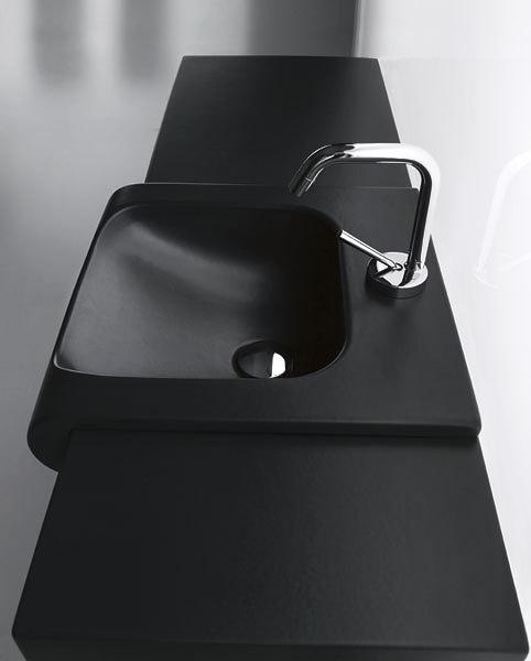 SAPHO INKA 341131 keramické umyvadlo 60x40cm, černá mat