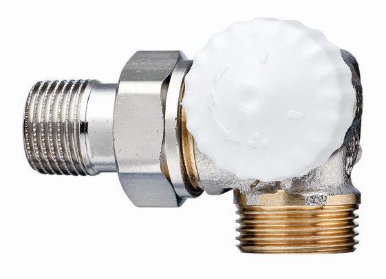 """HEIMEIER radiátorový ventil V-exact II DN 15-3/4"""" úhlový, pravý, vnější závit 3734-02.000"""