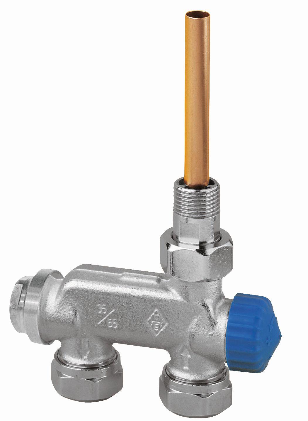 HEIMEIER radiátorový ventil E-Z přímý, jednotrubková s. 3876-02.000
