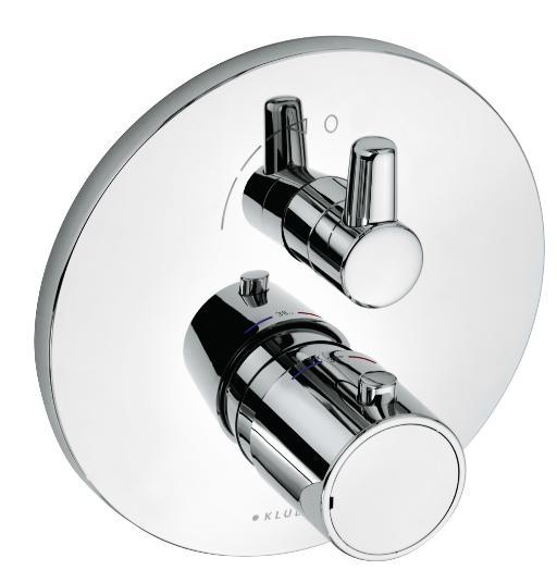 KLUDI O-Cean termostatická podomítková sprchová baterie, chrom 388350545