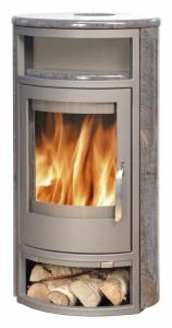 ABX Polar 10 Aqua Krbová kamna na dřevo s teplov. vým.,šedý pl.+žula par.,vč.h. desky
