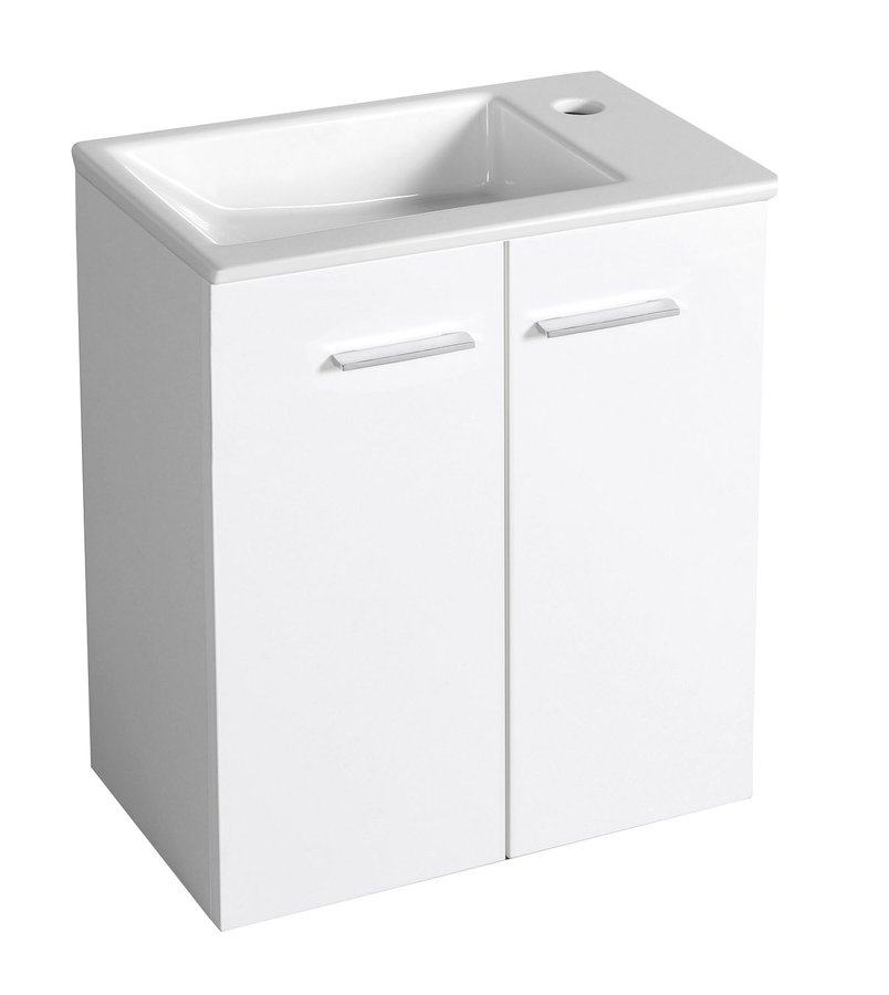 AQUALINE ZOJA umyvadlová skříňka 49x50x24,6cm, bílá 51047