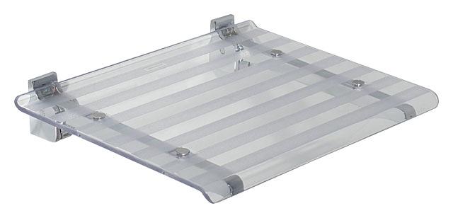SAPHO Koh-i-noor 5368T LEO sprchové sedátko 40x31cm, čirá