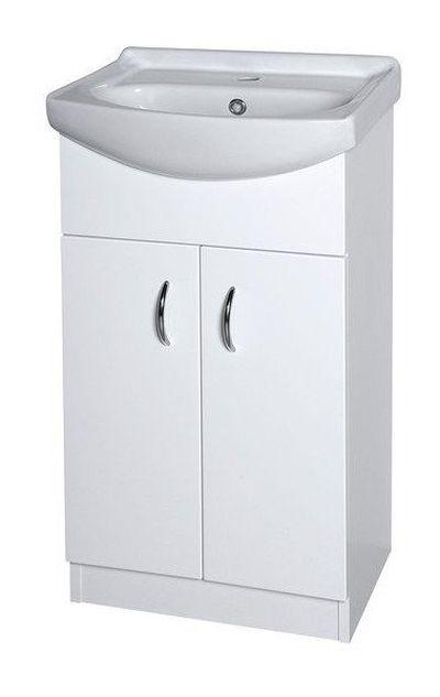 AQUALINE EKOSET umyvadlová skříňka včetně umyvadla 47x89,6x37,50cm, bílá 57058