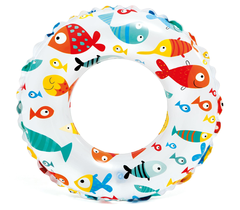 INTEX Lively Print nafukovací kruh, ryby 59241NP