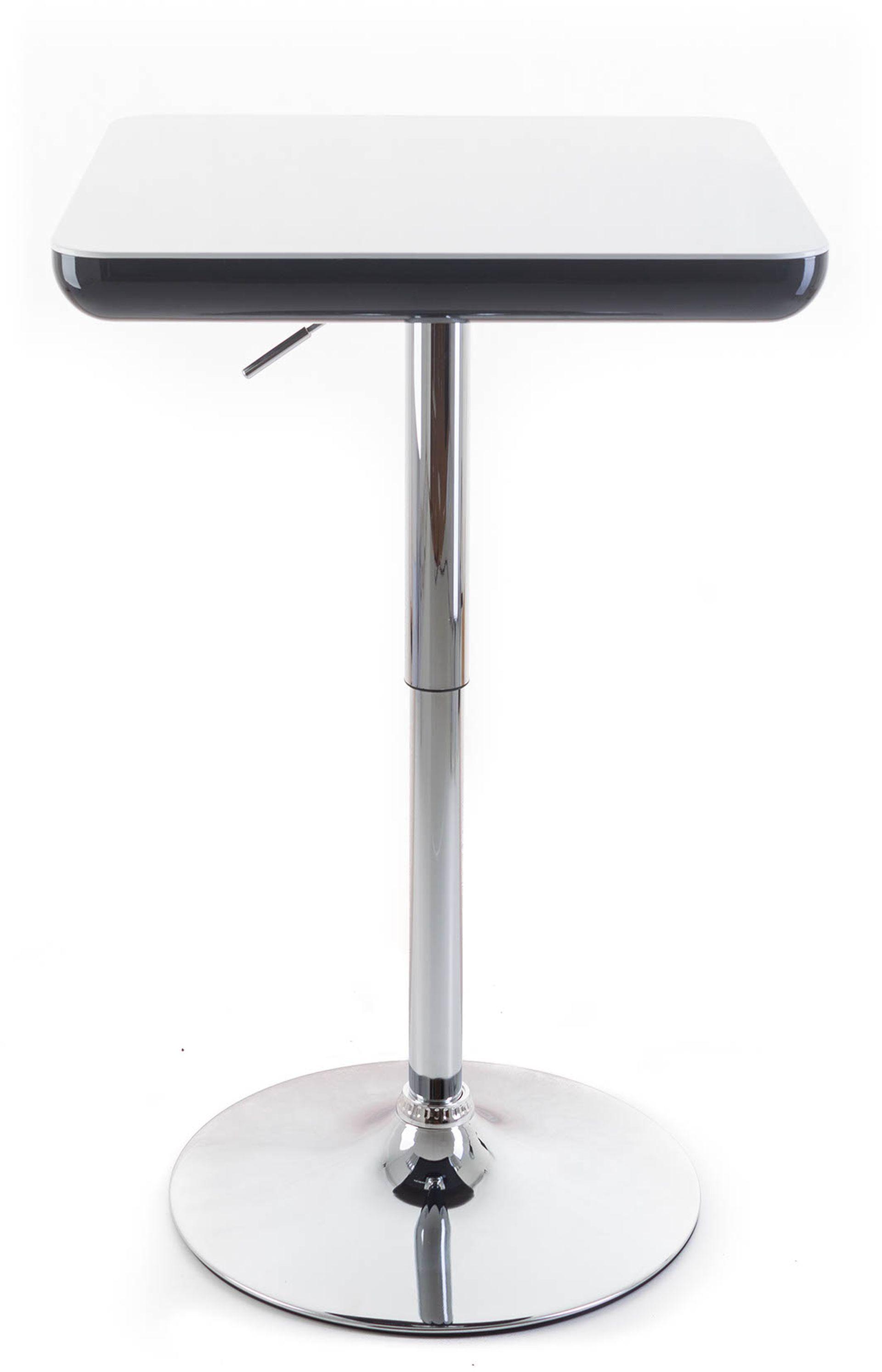 G21 Barový stolek Whieta plastový bíly/černý 60023086