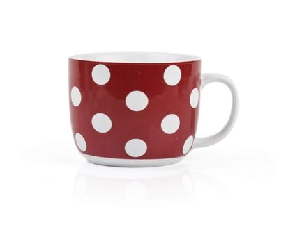 BANQUET polévkový hrnek červený s puntíky 60JG1725