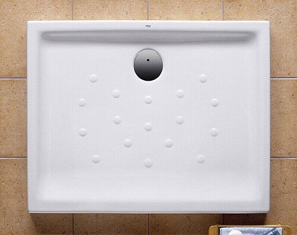 Roca Malta keramická sprchová vanička obdélníková 100 x 75 x 6,5cm, bílá 7373506000