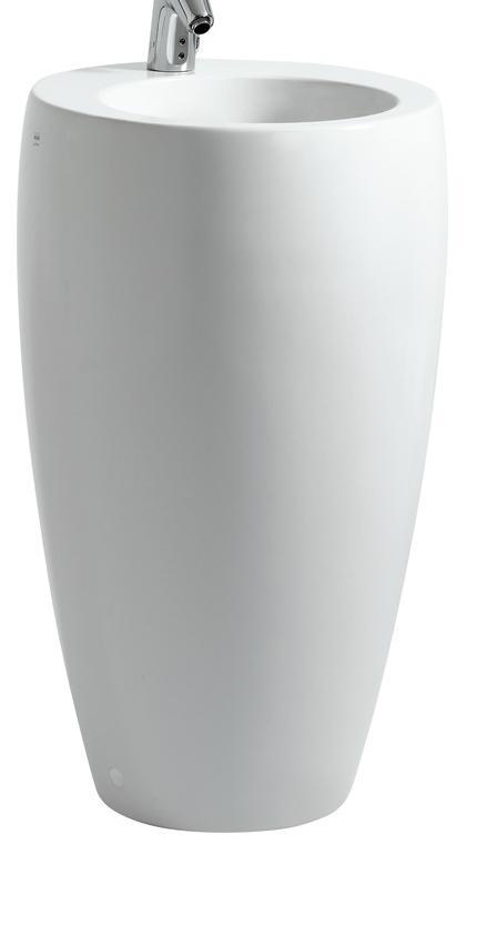 LAUFEN IL BAGNO ALESSI One umyvadlo 53x53 cm, samostatně stojící, LCC 8.1197.2.400.104.1