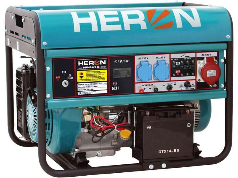 HERON EGM 65 AVR-3E elektrocentrála benzínová 15HP / 6,5KW 8896120
