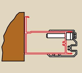 RONAL profil k rozšíření dveří na straně madla nebo boční stěny, barva* ACSL1SF1948