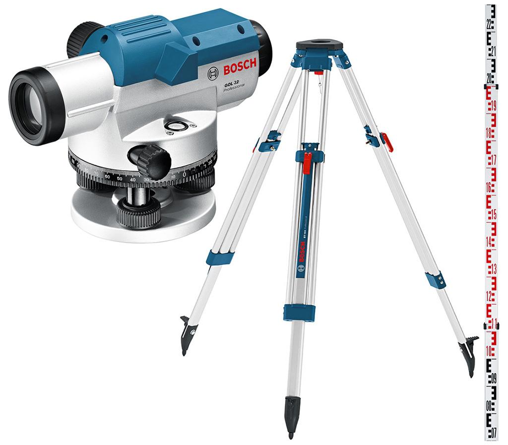 BOSCH GOL 26 D Professional Optický nivelační přístroj + BT 160 + GR 500, 061599400E