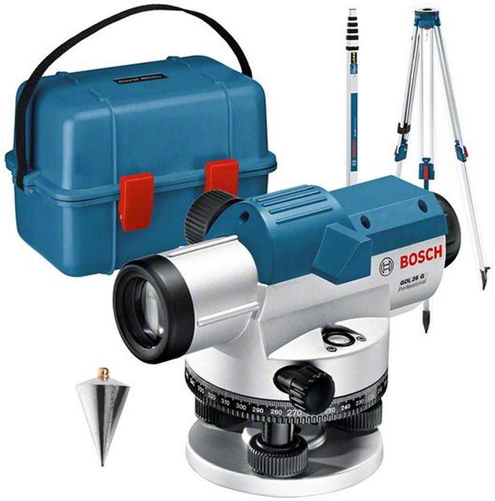 BOSCH GOL 26 G Optický nivelační přístroj v kufru se sadou příslušenství 061599400C