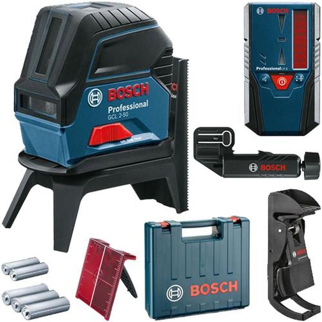 BOSCH GCL 2-50 Kombinovaný laser + LR 6 Přijímač laserového paprsku 0601066F01