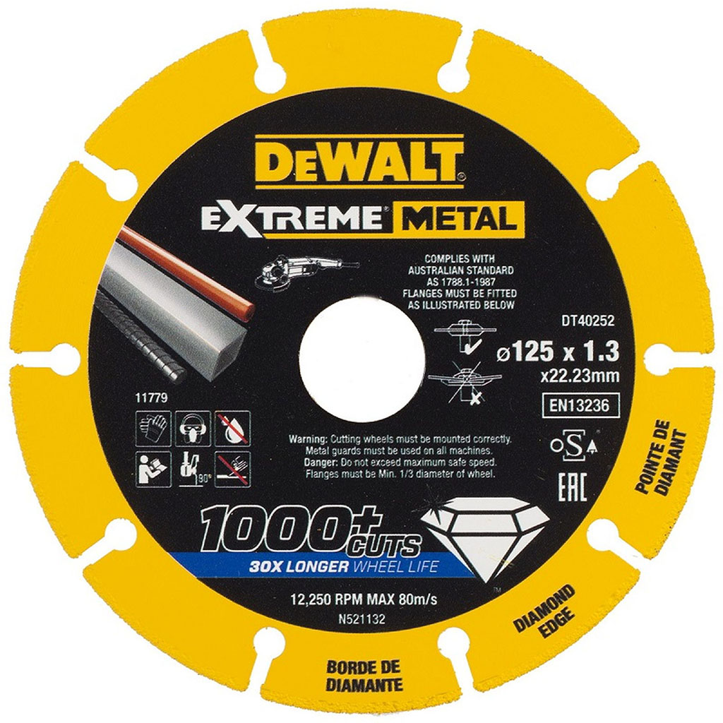 DeWALT Diamantový kotouč EXTREME METAL 125mm na řezání kovu DT40252