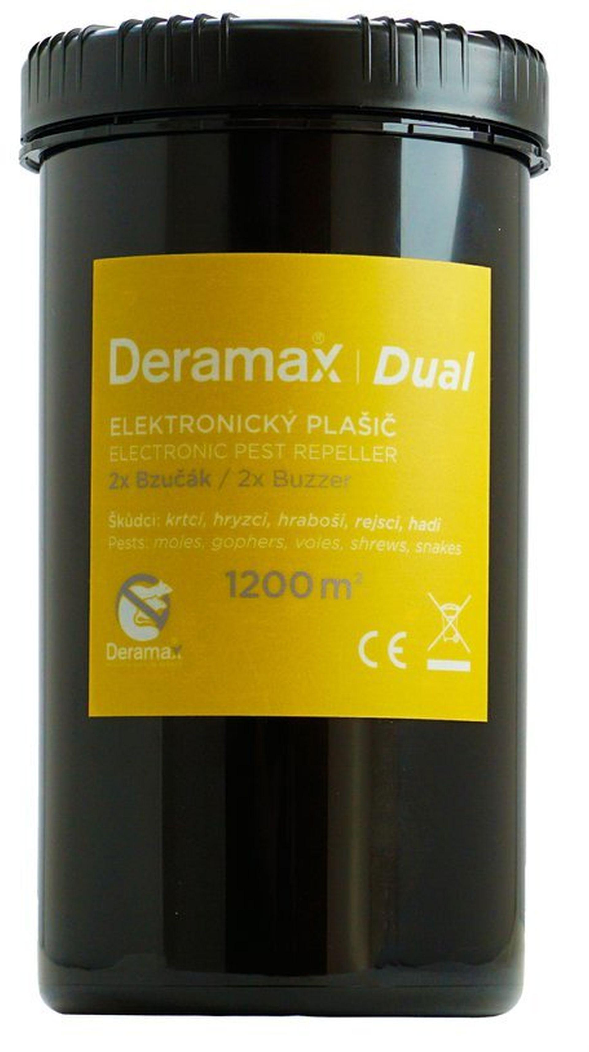 Deramax-Dual Elektronický plašič (odpuzovač) krtků a hryzců 0350