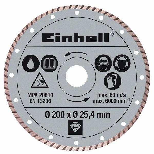 Einhell Diamantový kotouč TURBO 200x25,4 mm k řezačkám TPR 200/2, RT-SC 560 U 43.011.75