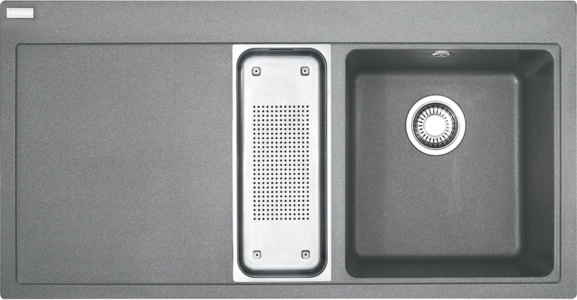 Franke Mythos MTG 651-100/7, 1000x515 mm, fragranitový dřez, šedý kámen 114.0150.029