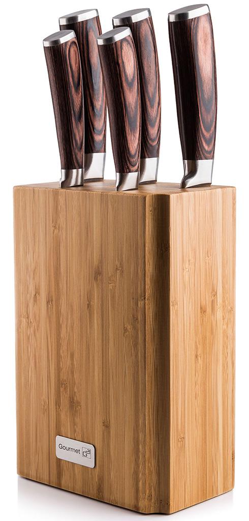 G21 Sada nožů Gourmet Nature 5 ks + bambusový blok 6002218