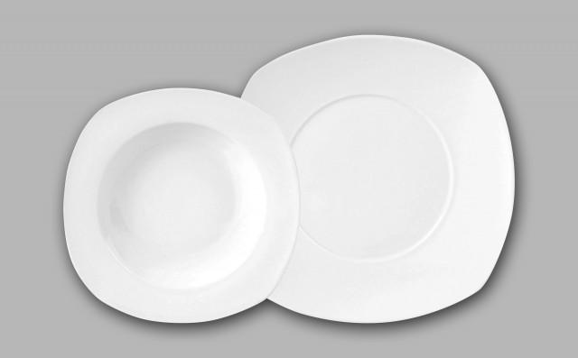 VIVION Jídelní sada talířů 12 ks porcelánová HA-30687