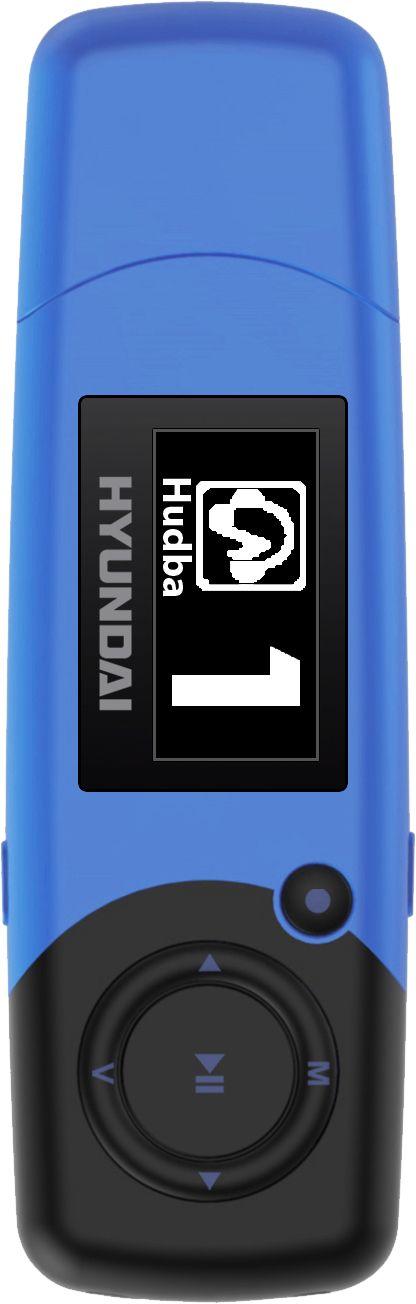 HYUNDAI MP 366 FM MP3/MP4 Přehrávač 4 GB, modrý