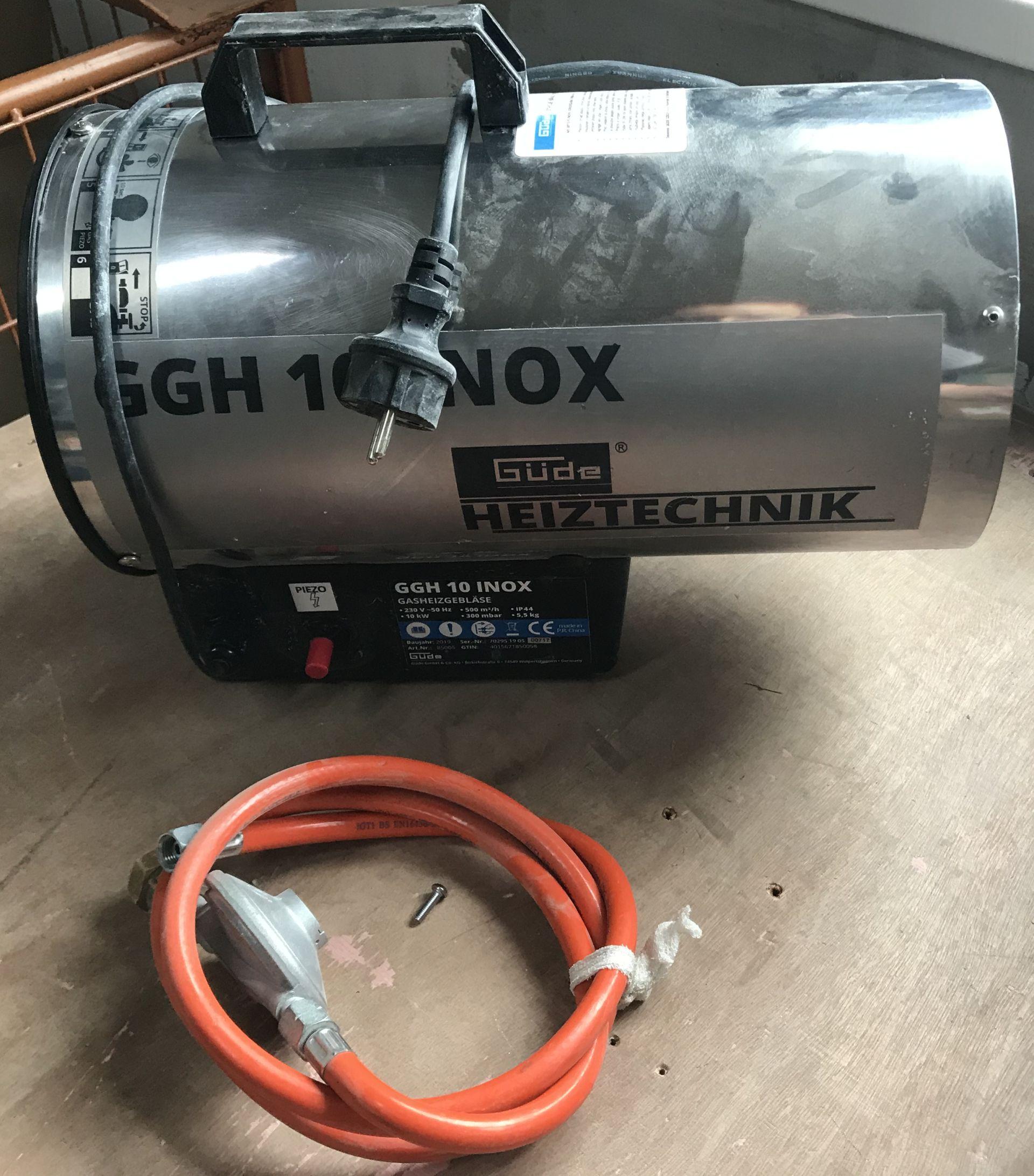 VÝPRODEJ GÜDE GGH 10 INOX Horkovzdušná plynová turbína 85005, PO SERVISE, POUŽITÉ!!!