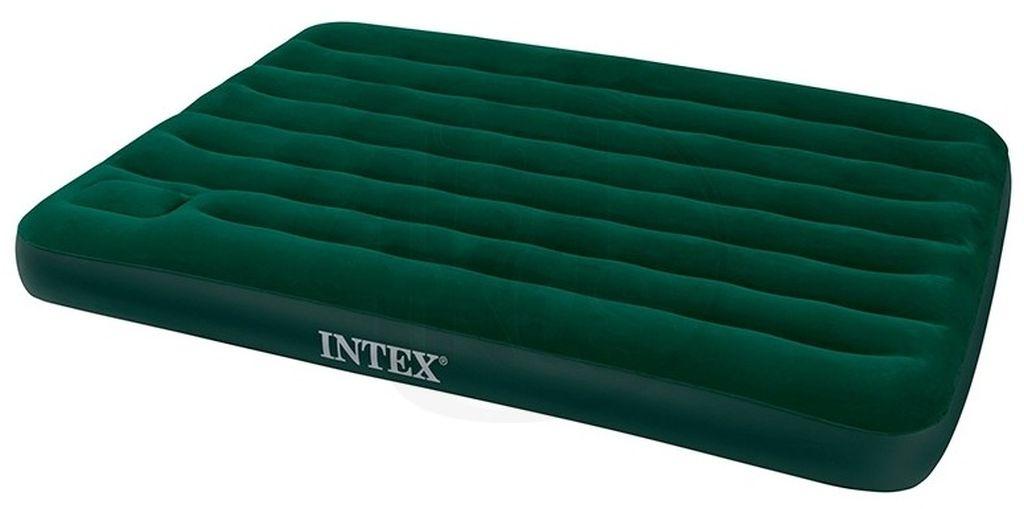 INTEX Queen Downy Bed nafukovací postel s pumpou, 203 x 152 x 22 cm, 66929