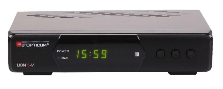 DVB-T2 přijímač OPTICUM DVB-T2 Lion 5-M H.265 HEVC set-top-box