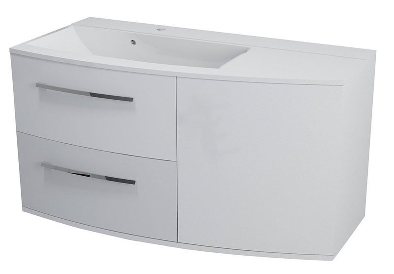 SAPHO JULIE umyvadlová skříňka 105x55x46,5cm, levá, bílá, 59105