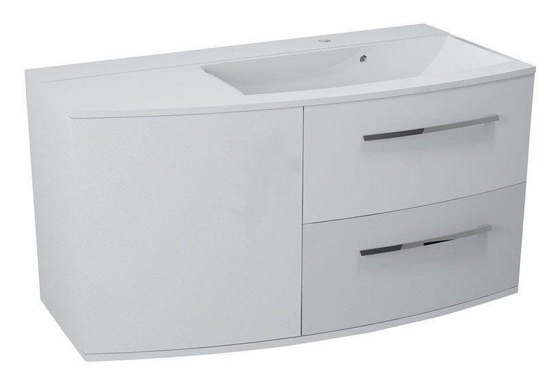 SAPHO JULIE umyvadlová skříňka 105x55x46,5cm, pravá, bílá, 59106