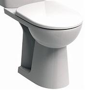 KOLO Nova Pro Bez Bariér WC mísa kombi, stojící, odpad vodorovný, s hlubokým splachováním, 3/6 l M33400