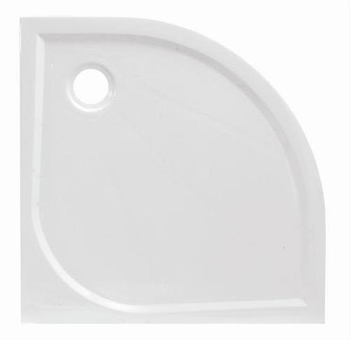 LIMNEW80S sprchová vanička litý mramor čtvrtkruhová 80